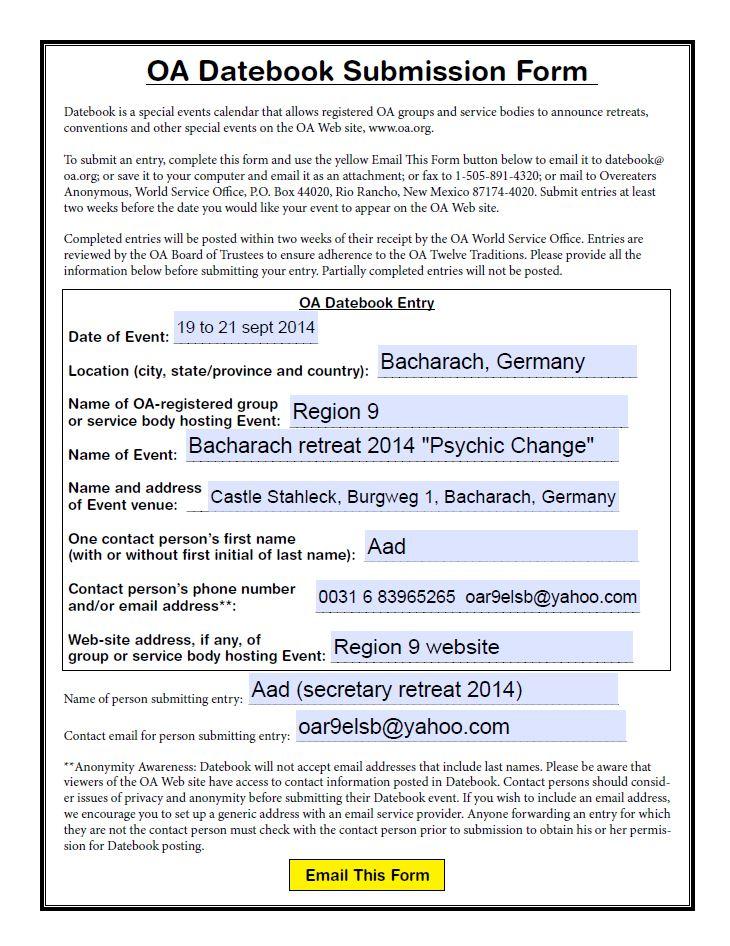 Inbjudan retreat i Tyskland